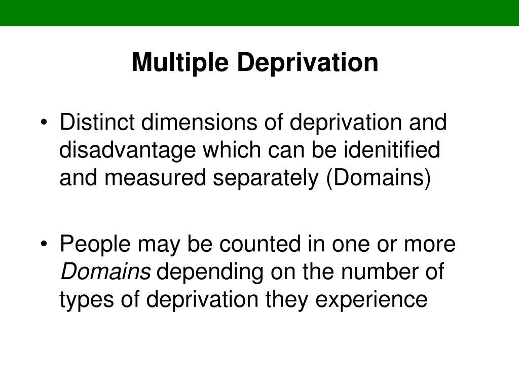 Multiple Deprivation