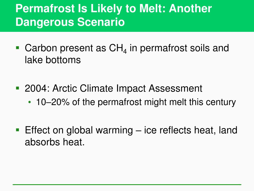 Permafrost Is Likely to Melt: Another Dangerous Scenario