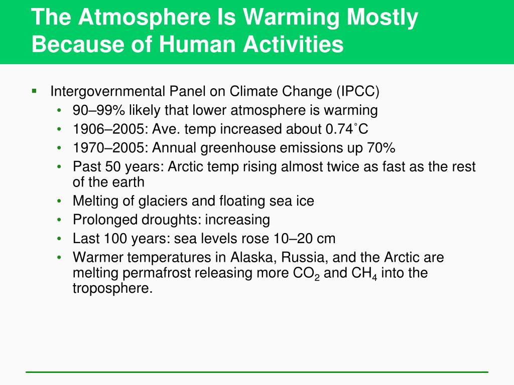 The Atmosphere Is Warming Mostly Because of Human Activities