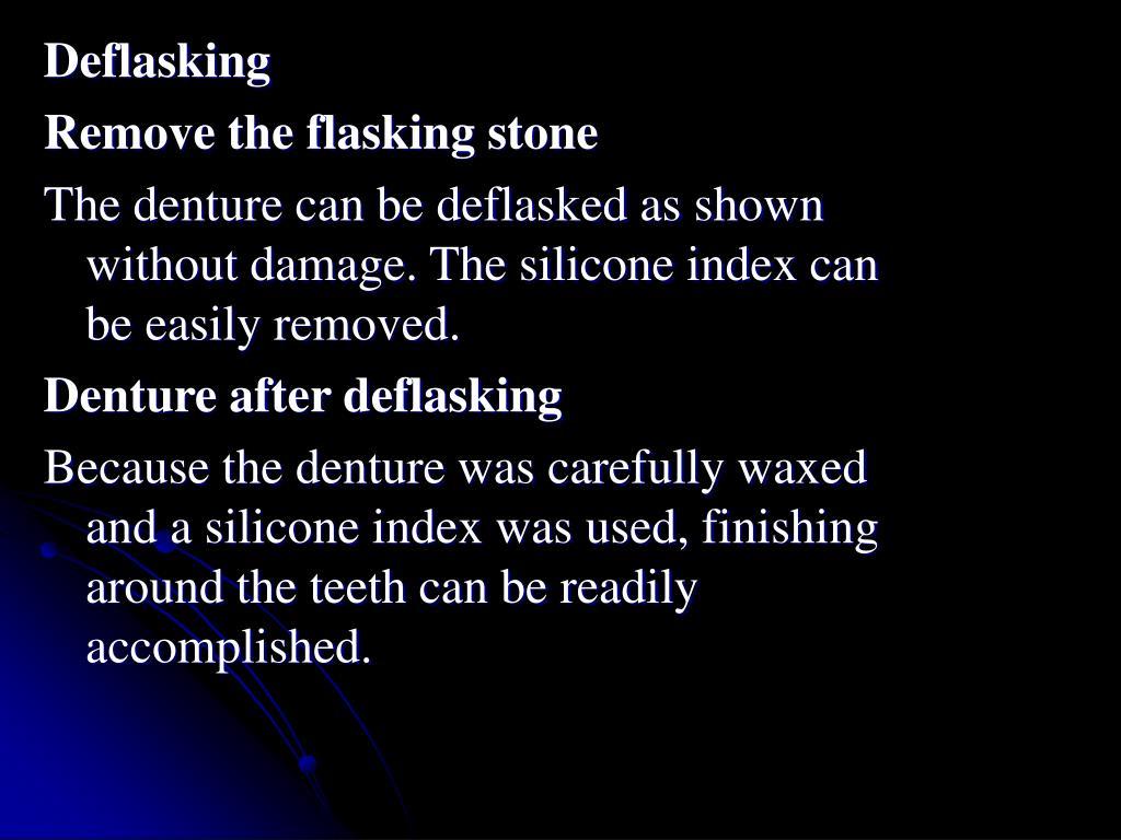 Deflasking