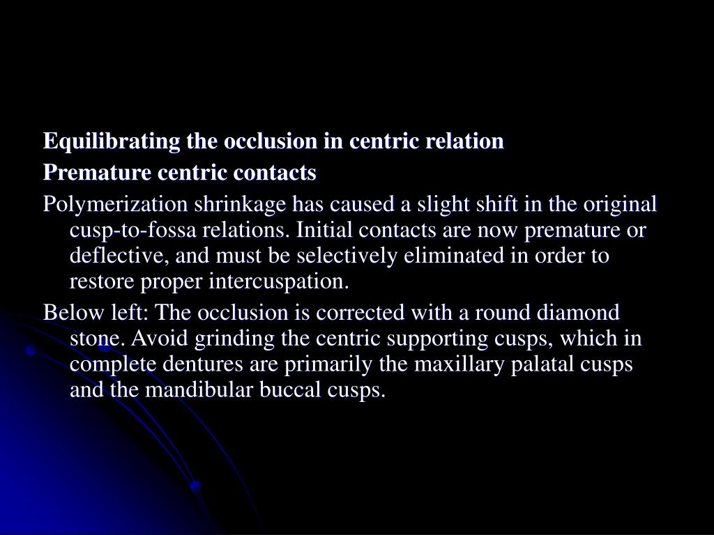 Equilibrating the occlusion in centric relation