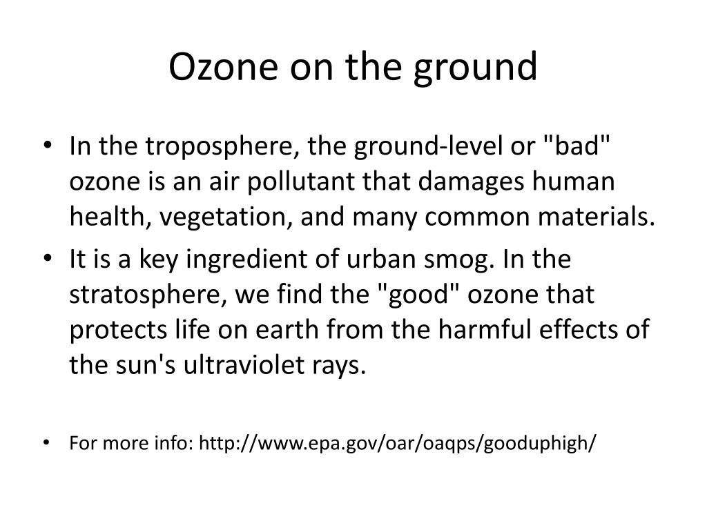 Ozone on the ground