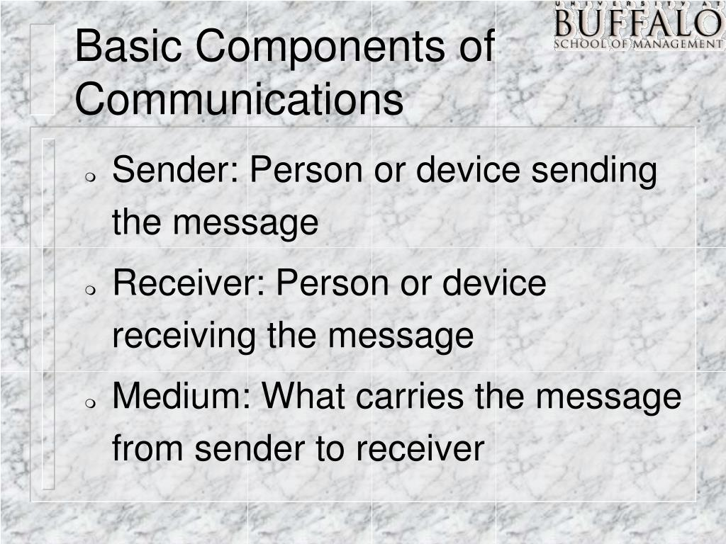 Basic Components of Communications