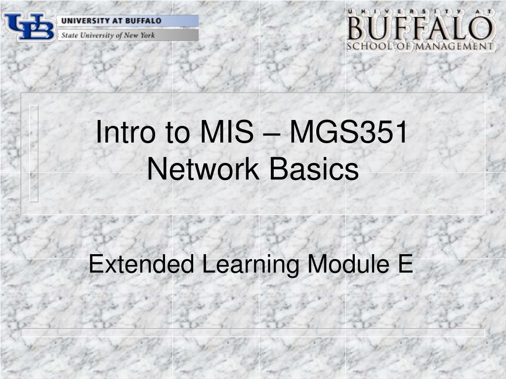 Intro to MIS – MGS351
