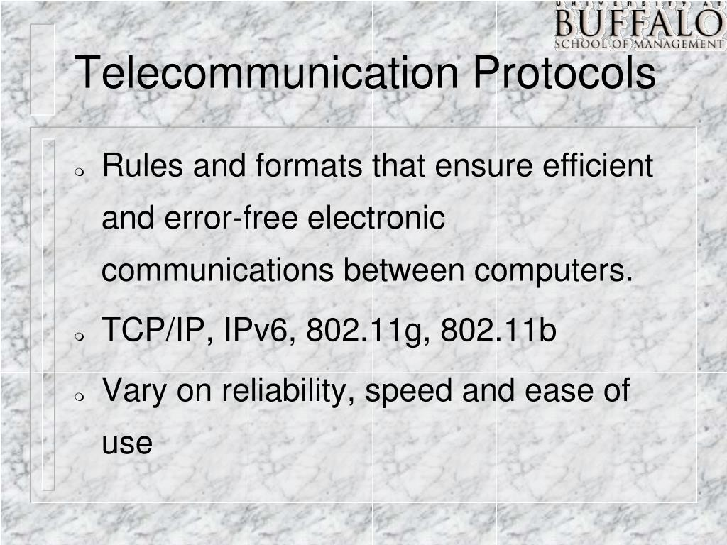 Telecommunication Protocols