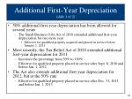 additional first year depreciation slide 1 of 2