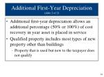 additional first year depreciation slide 2 of 2