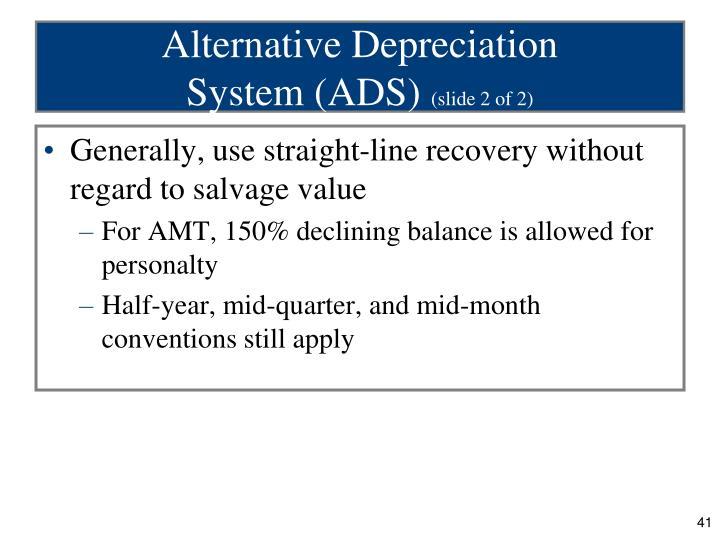 Alternative Depreciation