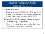 election to expense assets section 179 slide 3 of 5