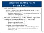 election to expense assets section 179 slide 4 of 5