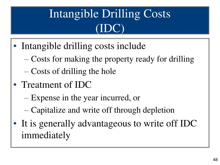 Intangible Drilling Costs