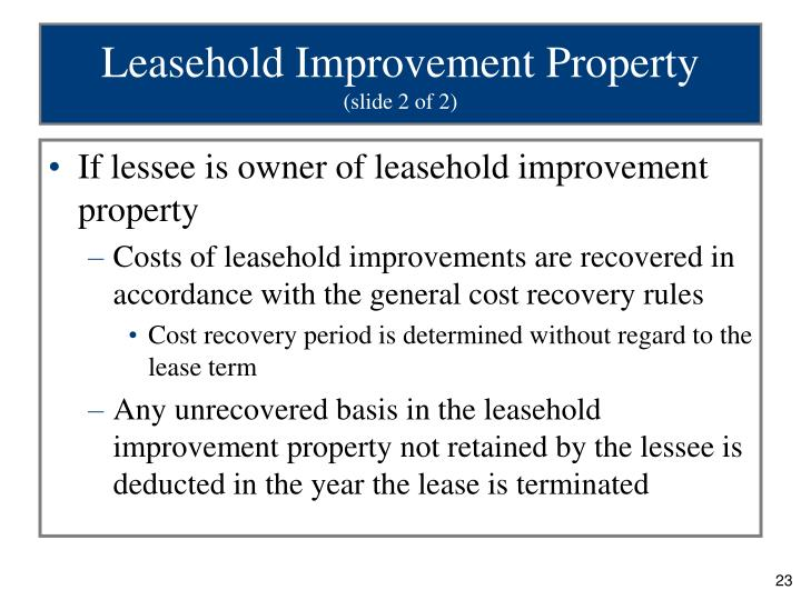 Leasehold Improvement Property