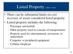 listed property slide 1 of 4