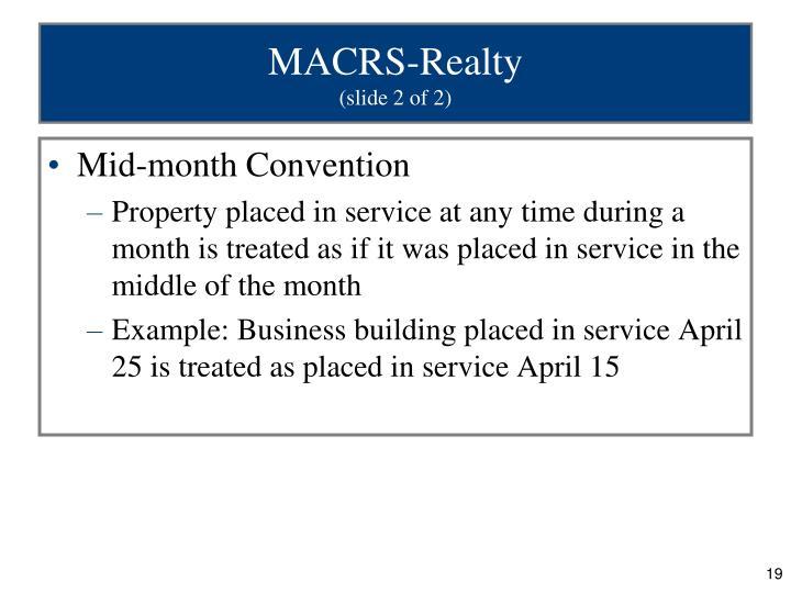 MACRS-Realty