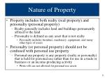 nature of property