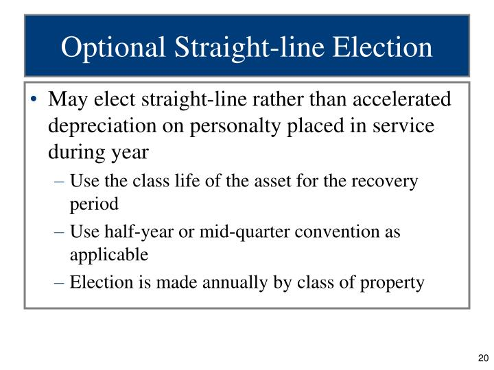 Optional Straight-line Election