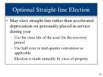 optional straight line election