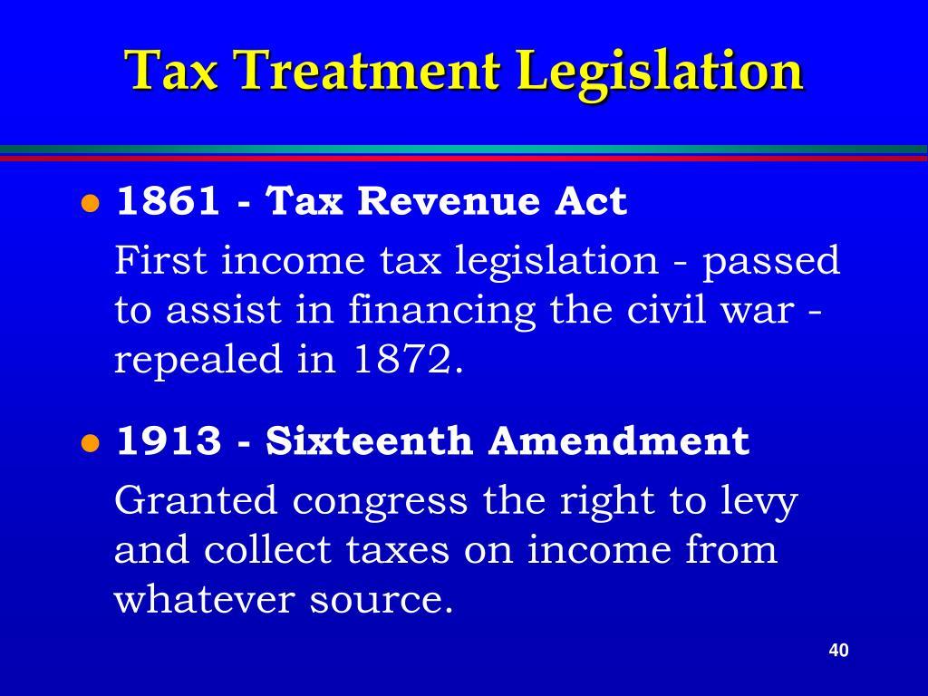 Tax Treatment Legislation