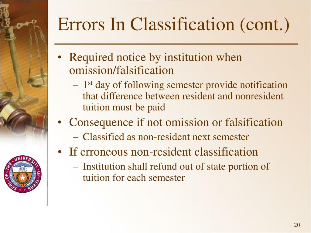 Errors In Classification (cont.)