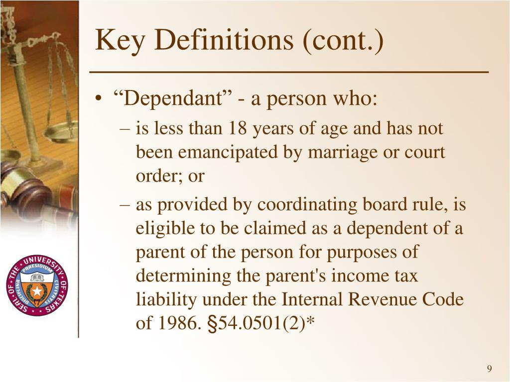 Key Definitions (cont.)