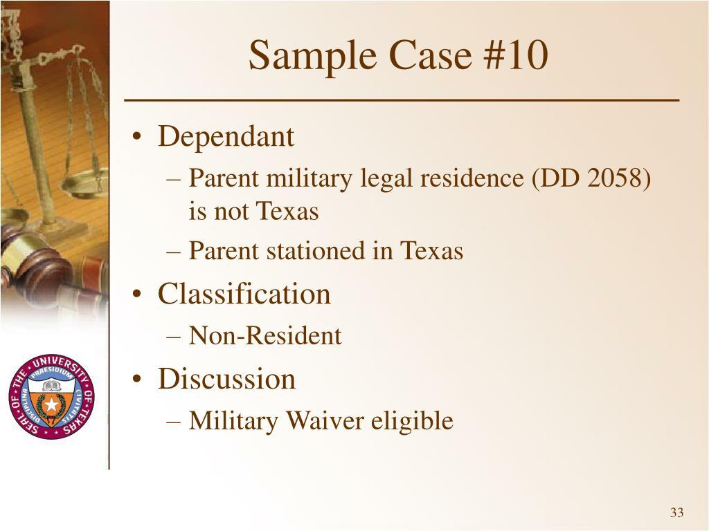 Sample Case #10