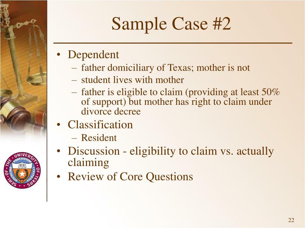 Sample Case #2