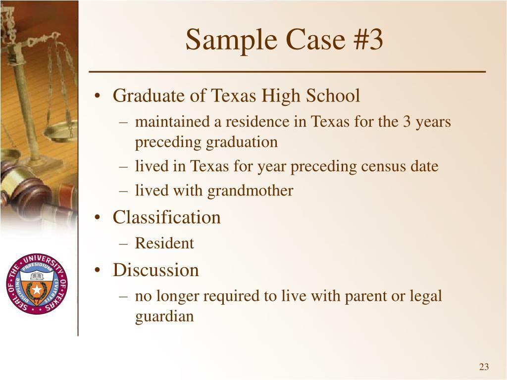 Sample Case #3