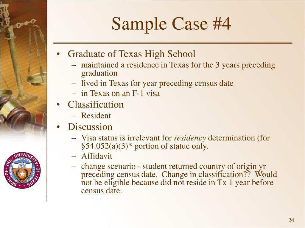 Sample Case #4