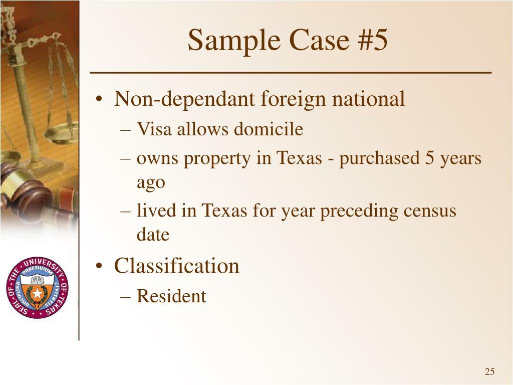 Sample Case #5