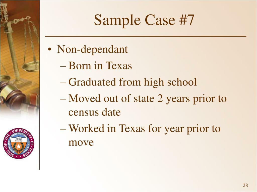 Sample Case #7