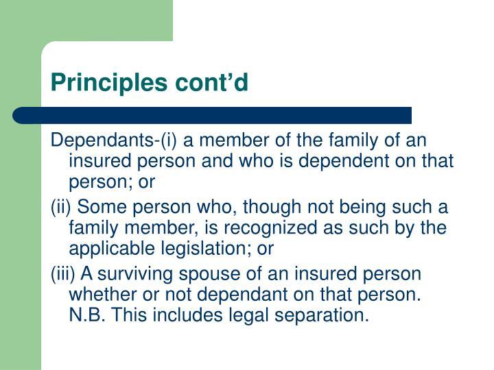 Principles cont'd