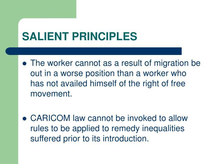 SALIENT PRINCIPLES