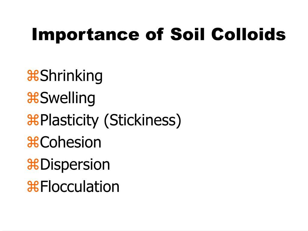 Importance of Soil Colloids