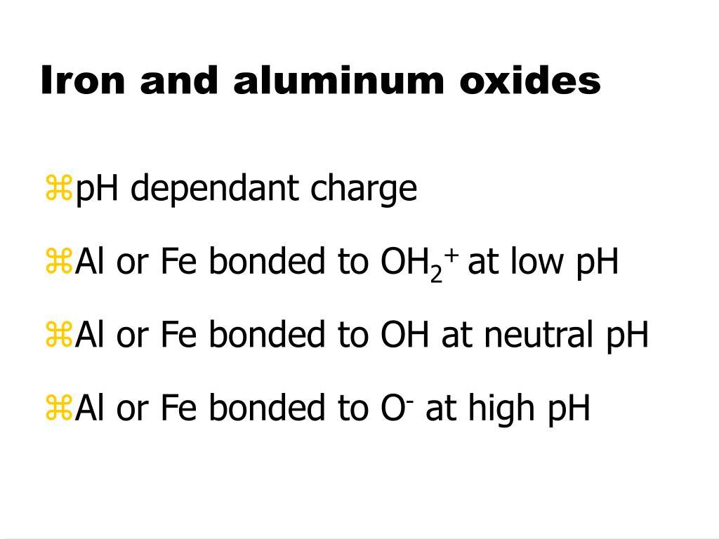 Iron and aluminum oxides