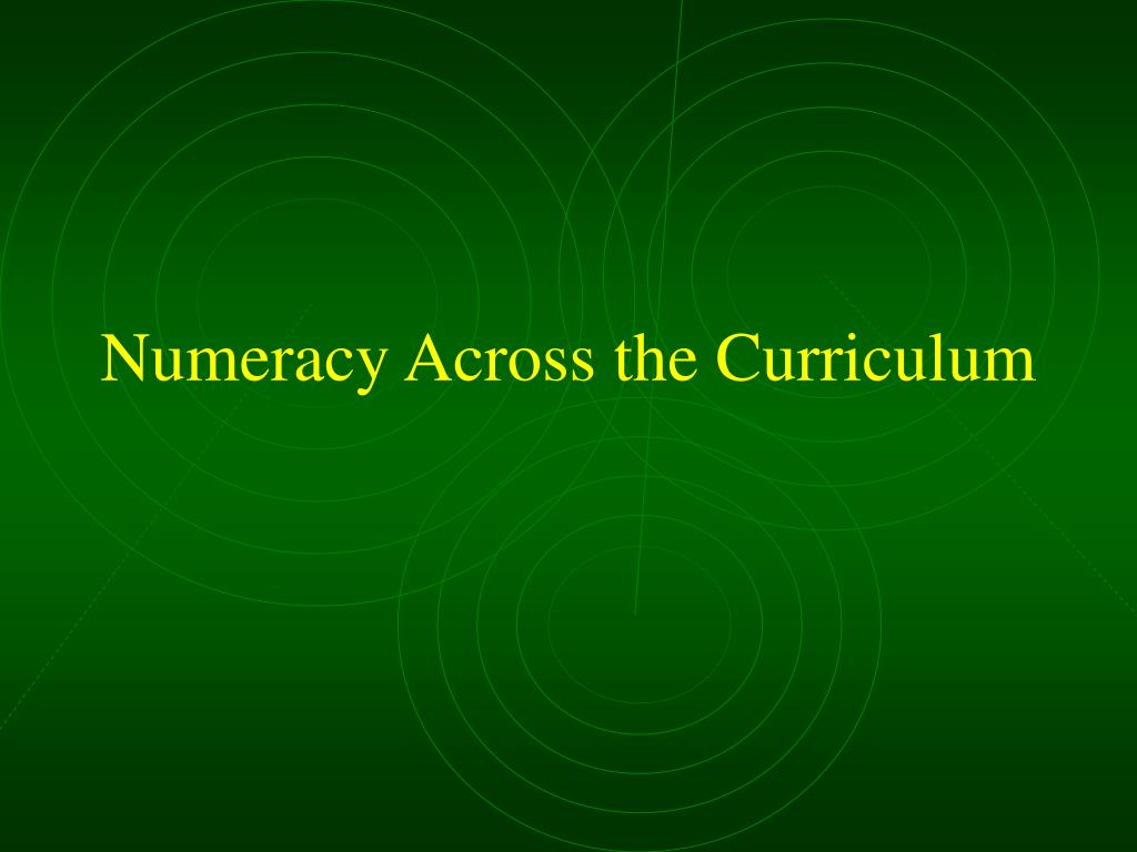 Numeracy Across the Curriculum