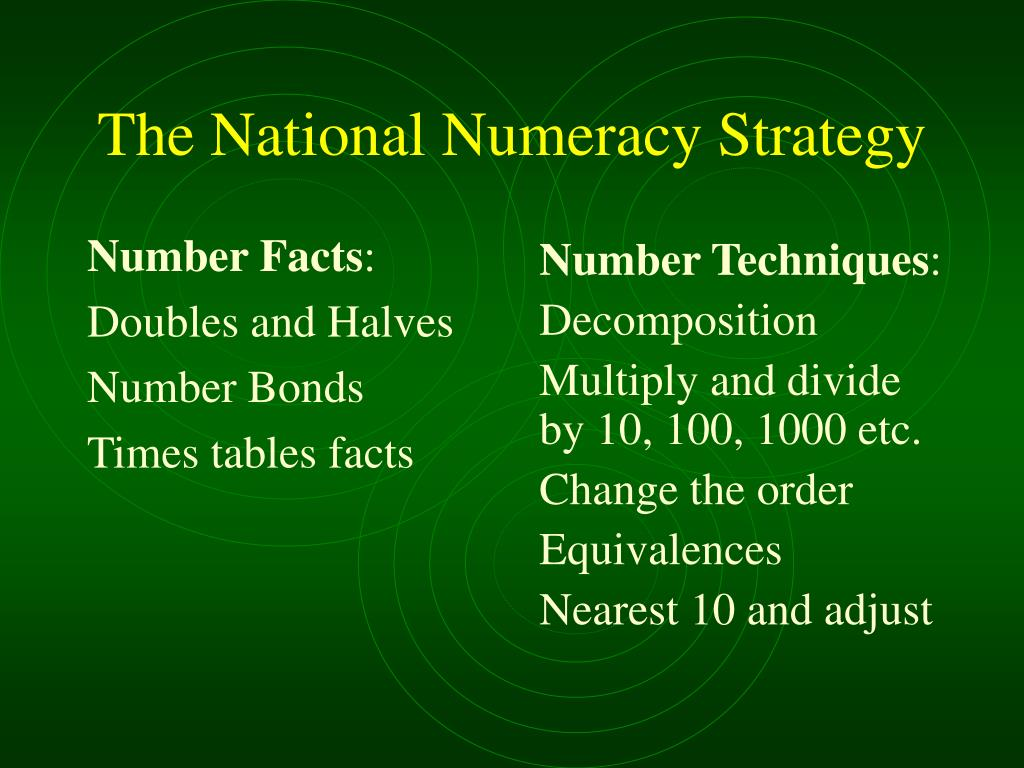 The National Numeracy Strategy
