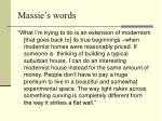 massie s words