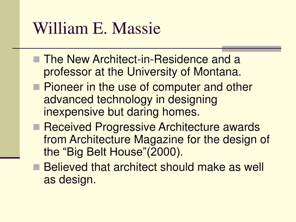 William E. Massie