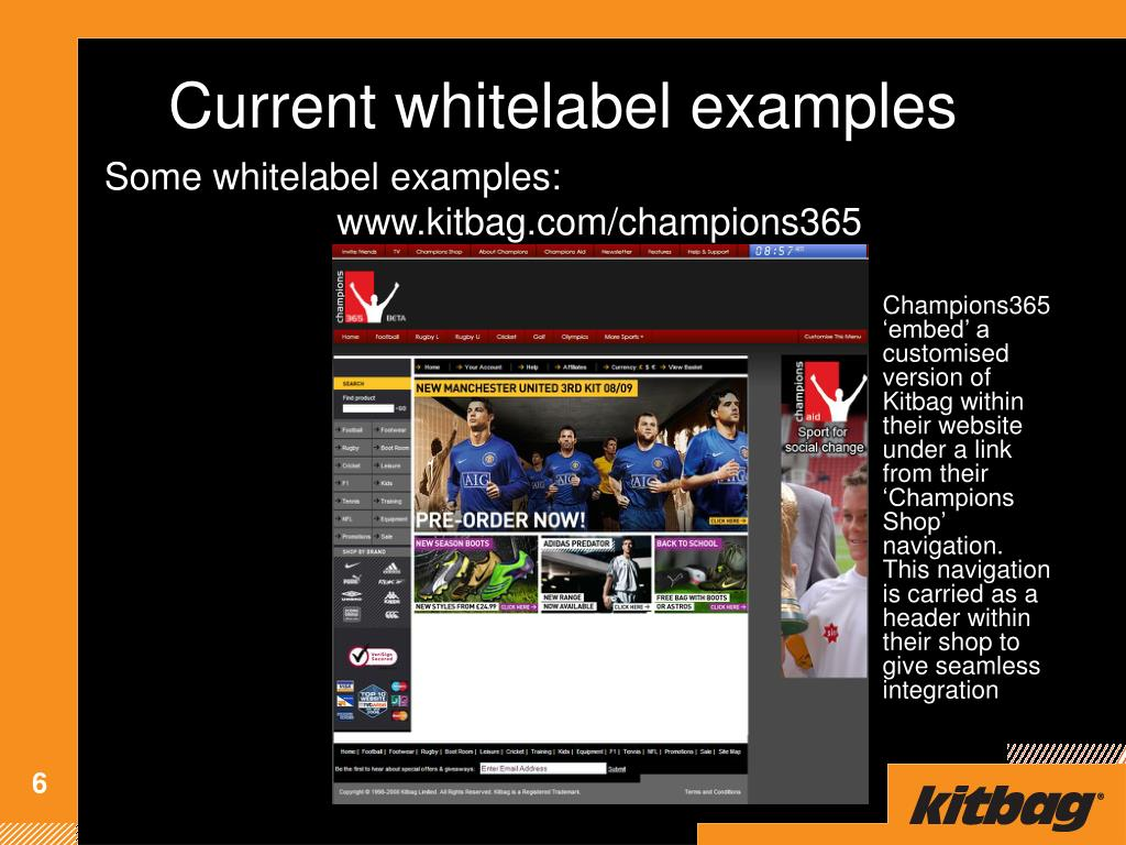 Current whitelabel examples