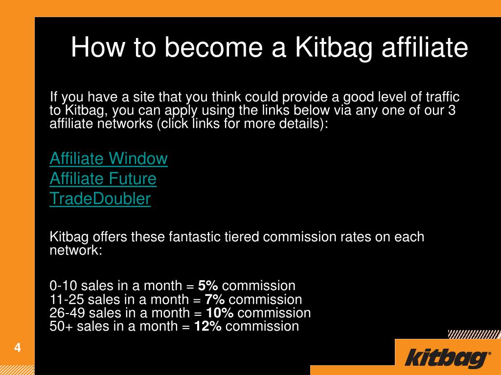 How to become a Kitbag affiliate