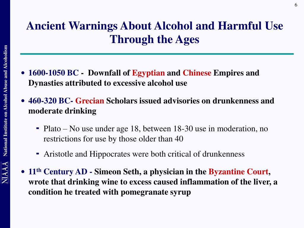 Ancient Warnings About Alcohol and Harmful Use Through the Ages