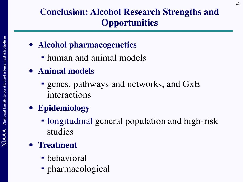 Conclusion: Alcohol Research Strengths and Opportunities