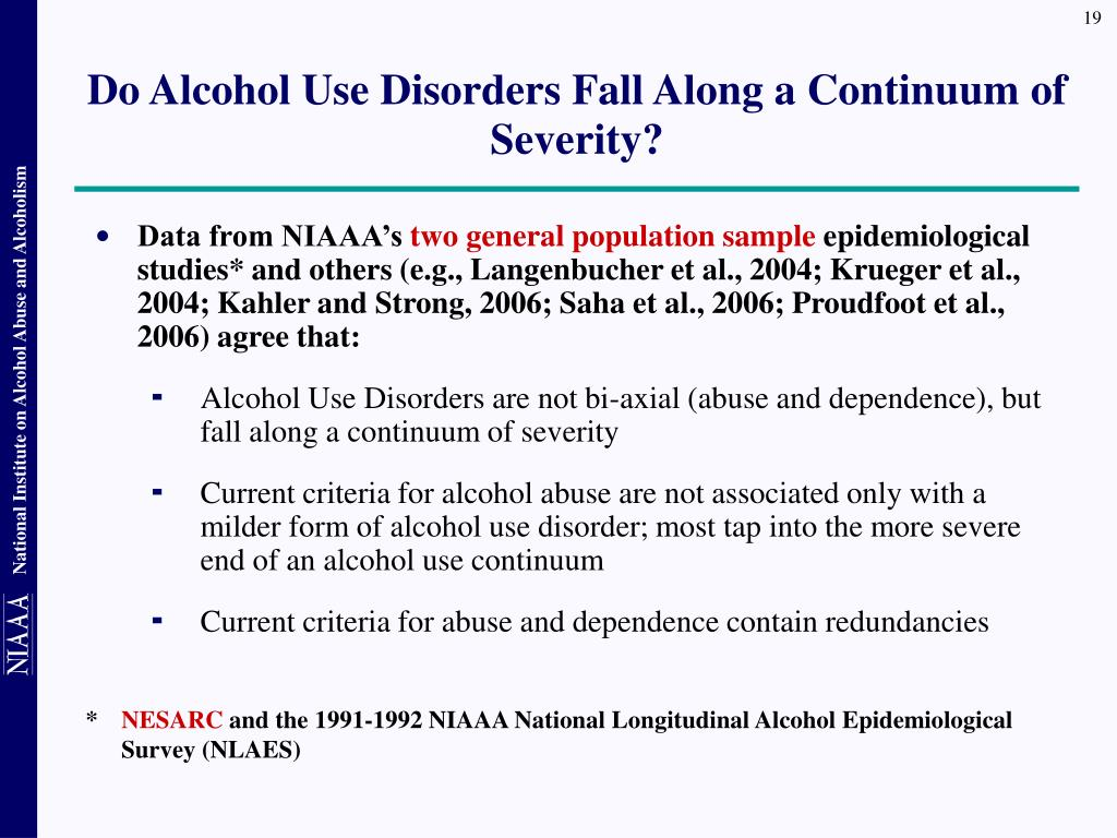 Do Alcohol Use Disorders Fall Along a Continuum of Severity?