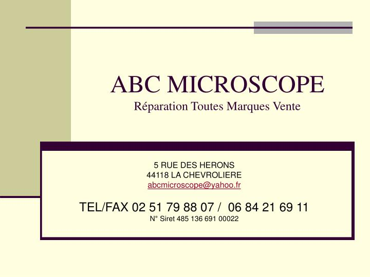 ABC MICROSCOPE