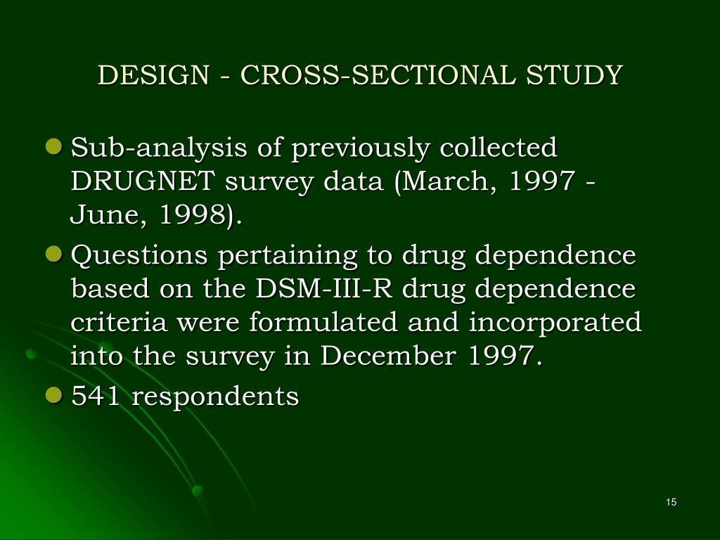 DESIGN - CROSS-SECTIONAL STUDY