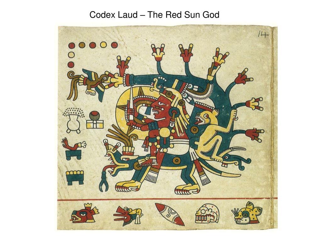 Codex Laud – The Red Sun God