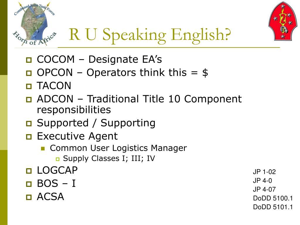 R U Speaking English?