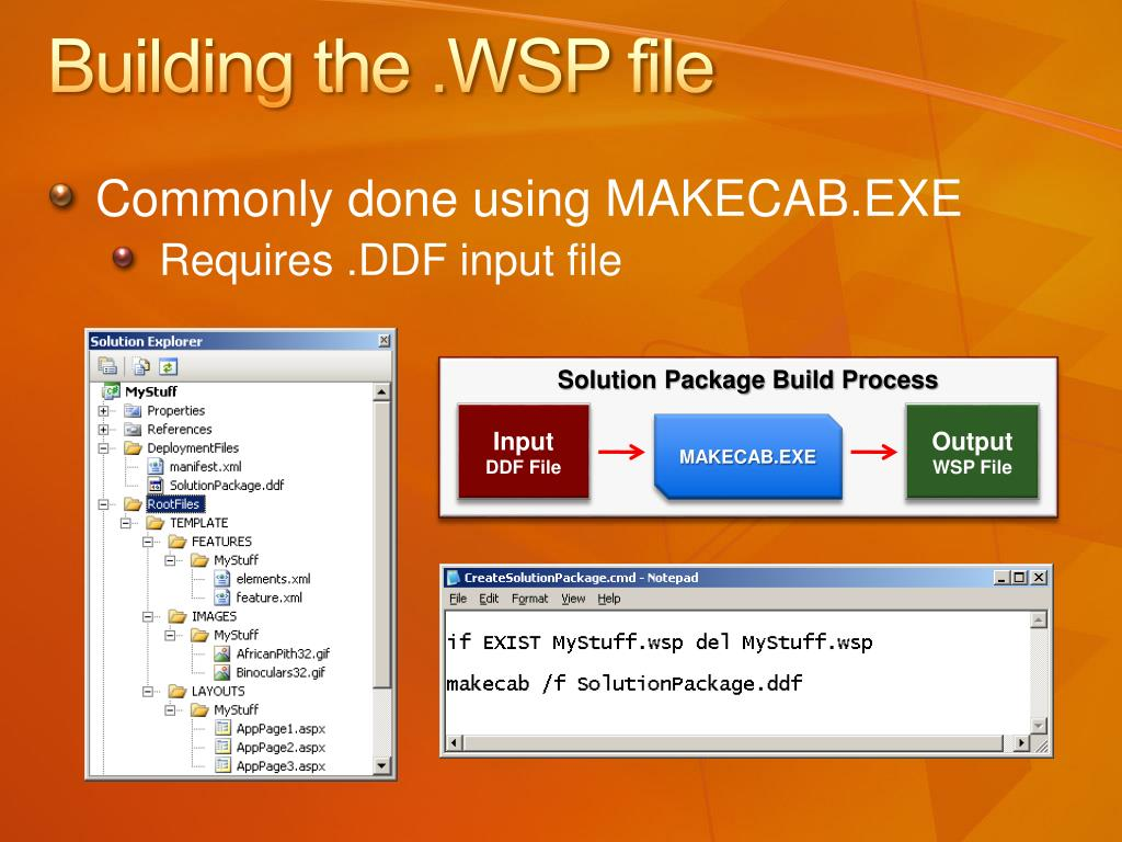 Building the .WSP file