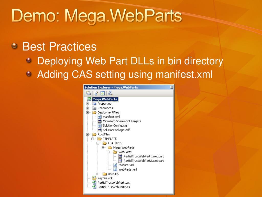 Demo: Mega.WebParts