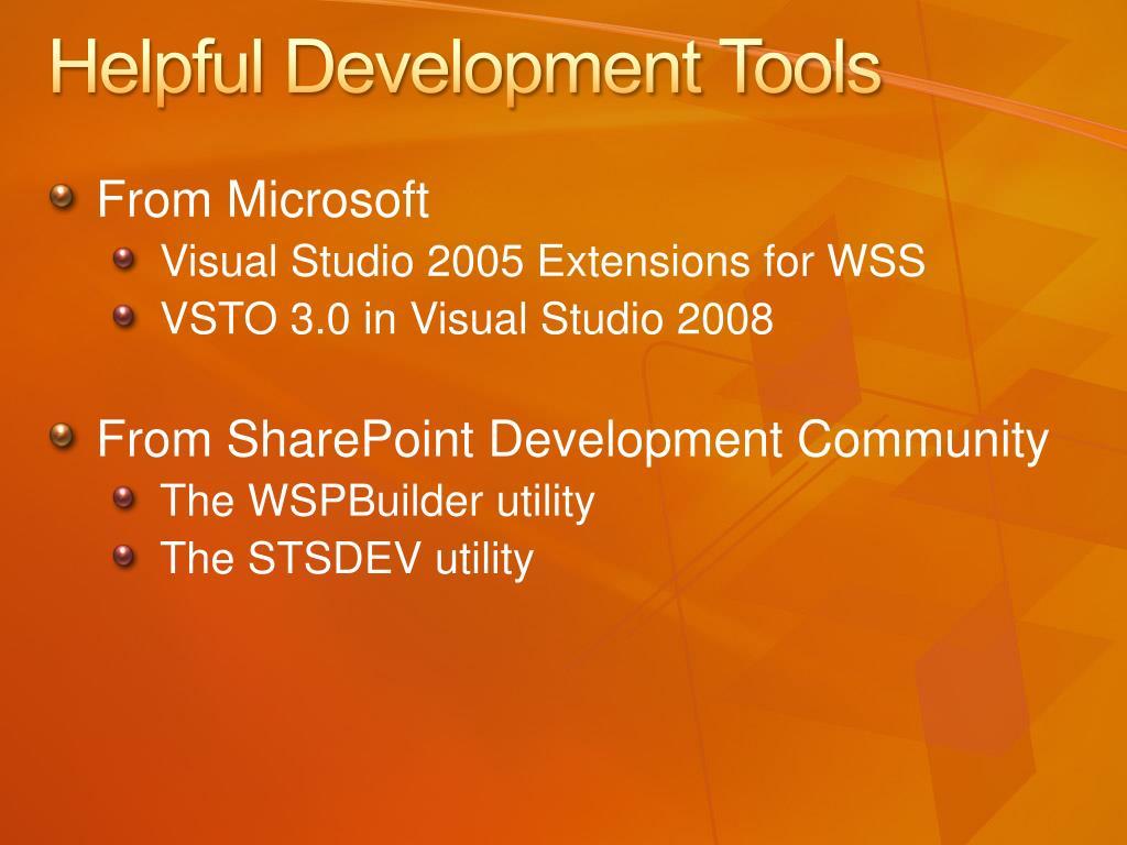 Helpful Development Tools